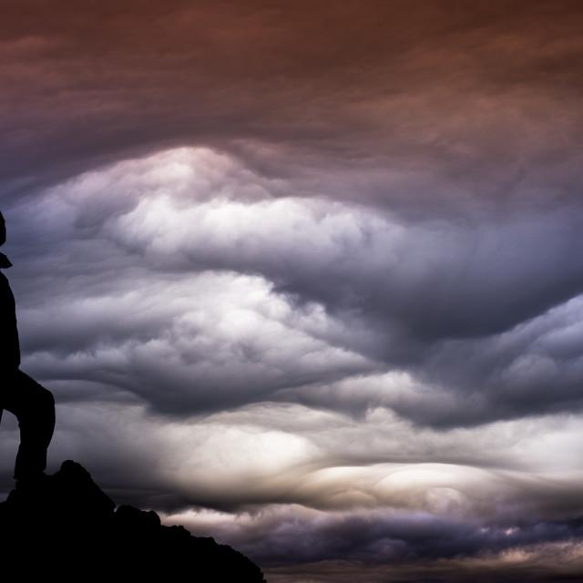 """""""Clouds, malalcahuello, Chile"""" stock image"""