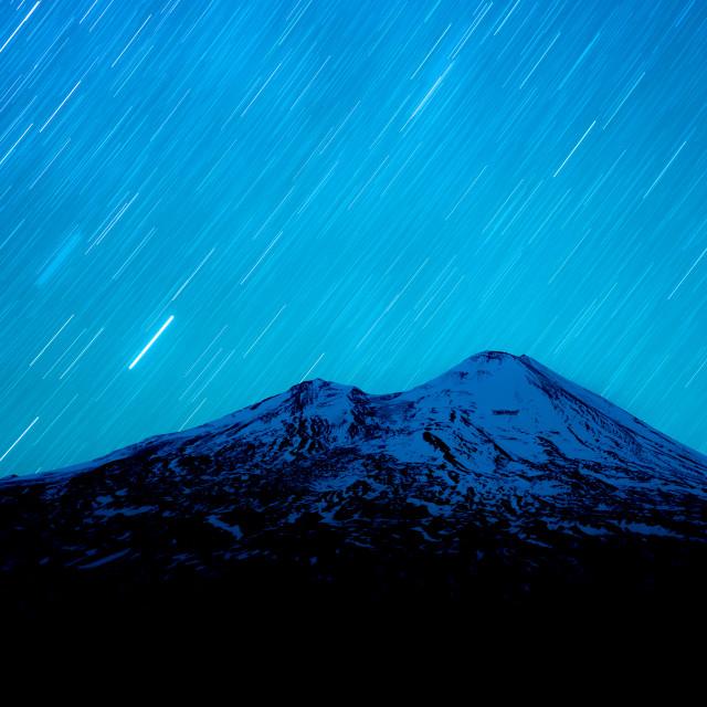 """Llaima volcano, Chile"" stock image"