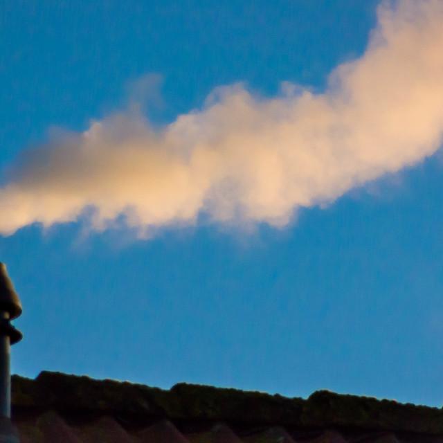 """Chimney Smoke"" stock image"