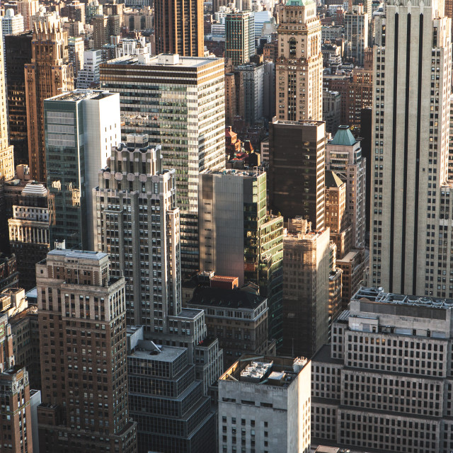 """Manhattan Skyscrapers, New York City"" stock image"