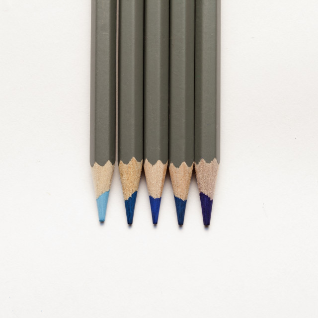 """""""Blue Colouring Pencils"""" stock image"""