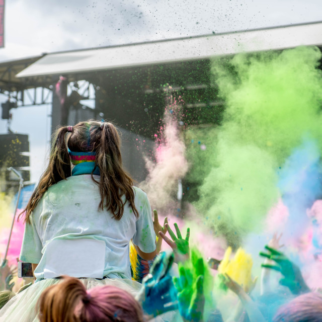 """Color run concert"" stock image"