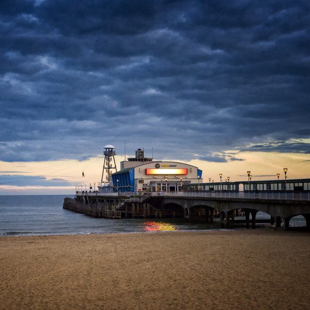 """Bournemouth pier and zip wire"" stock image"