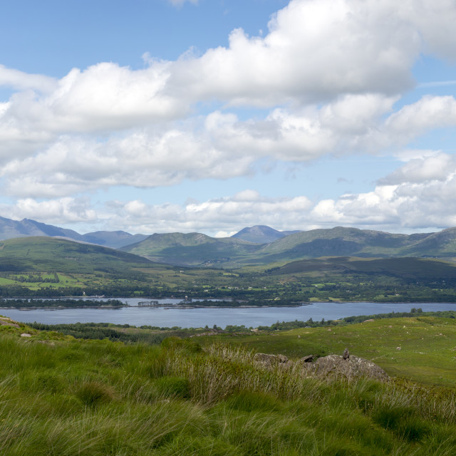 """panorama of the view from the kerry way"" stock image"