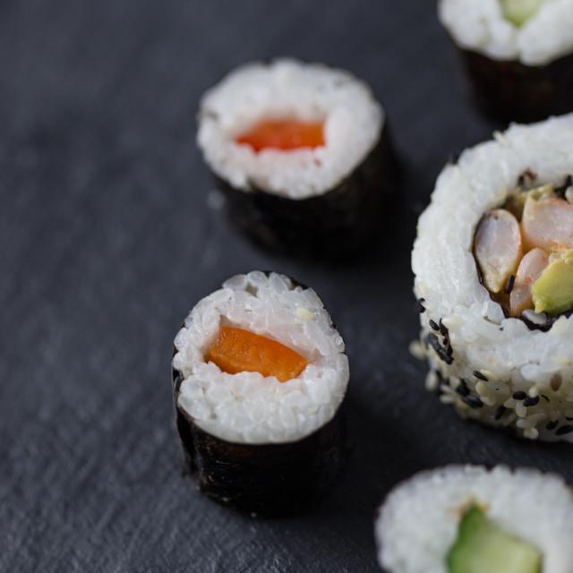 """Sushi pieces"" stock image"