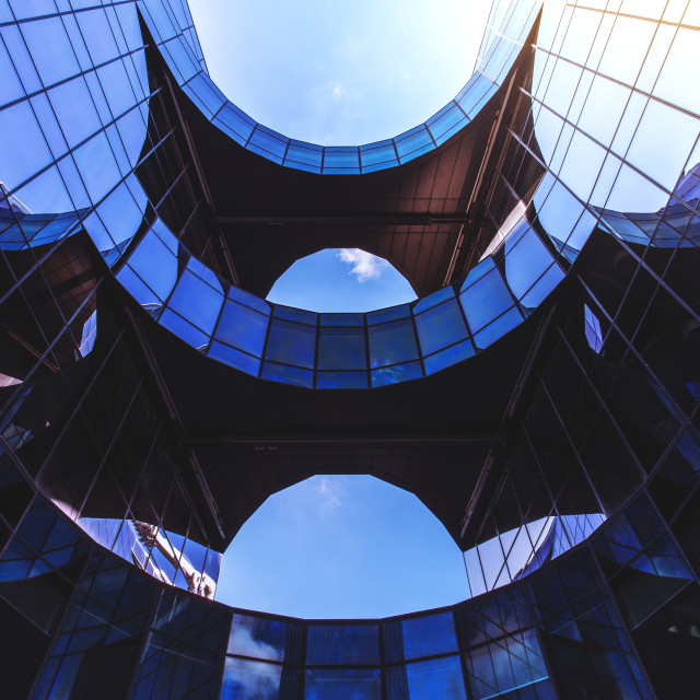 """""""Glass office building in London"""" stock image"""