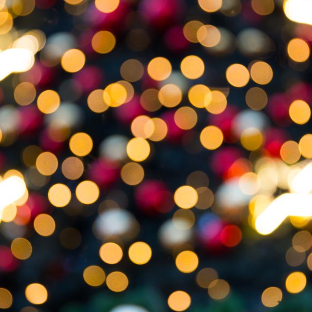 """Blurred Christmas tree lights"" stock image"