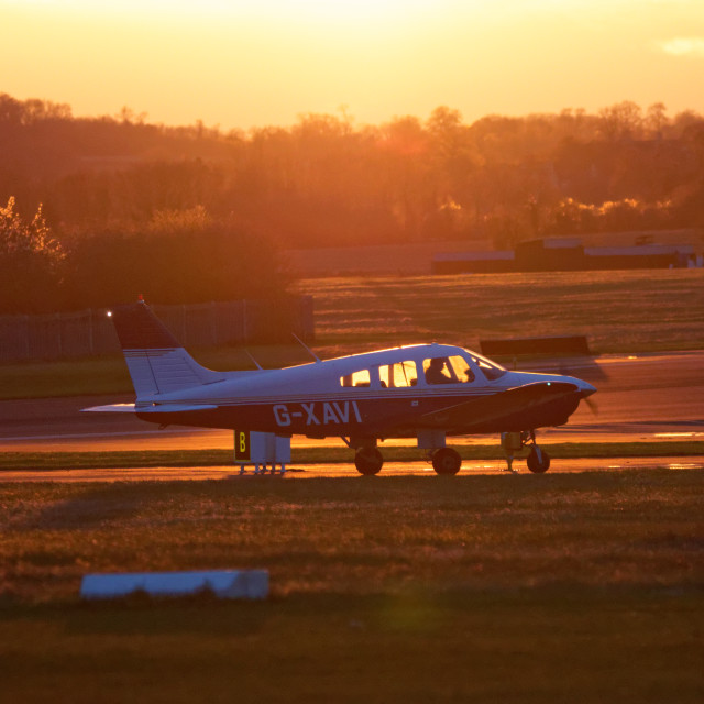 """Airfield Sunset"" stock image"
