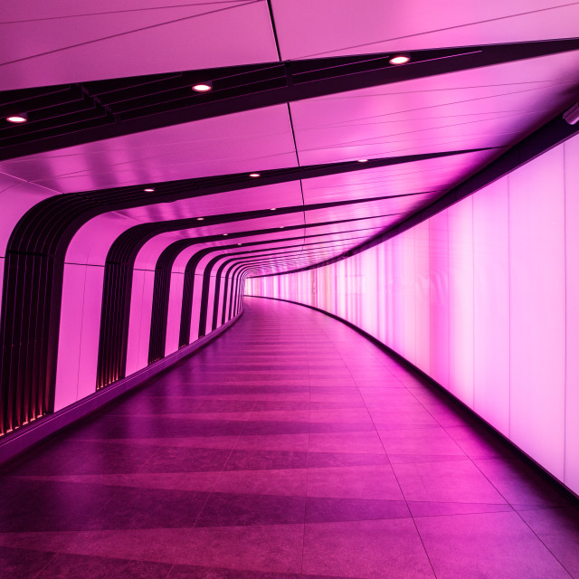 """Futuristic tunnel in London"" stock image"