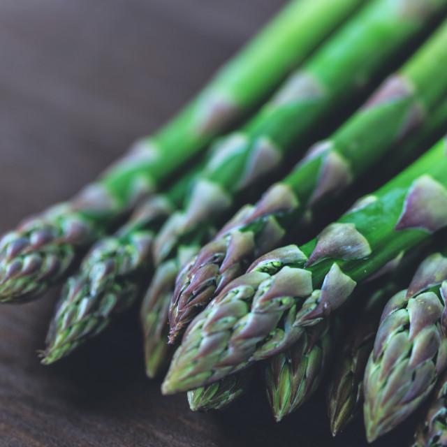 """""""Asparagus closeup"""" stock image"""