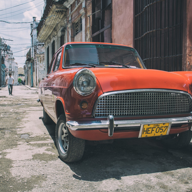 """Car on street in Havana, Cuba"" stock image"