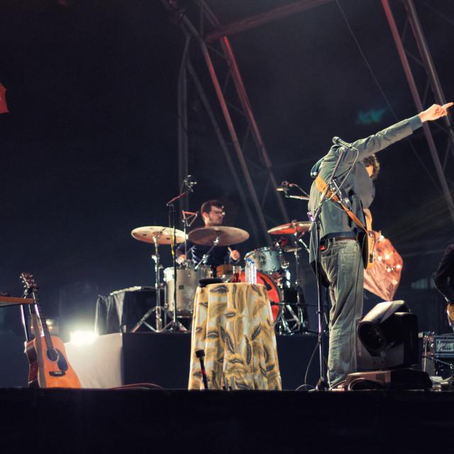"""Playing Live II"" stock image"
