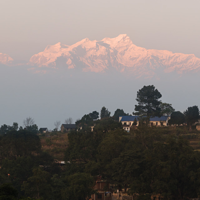 """Himalaya from Bandipur"" stock image"