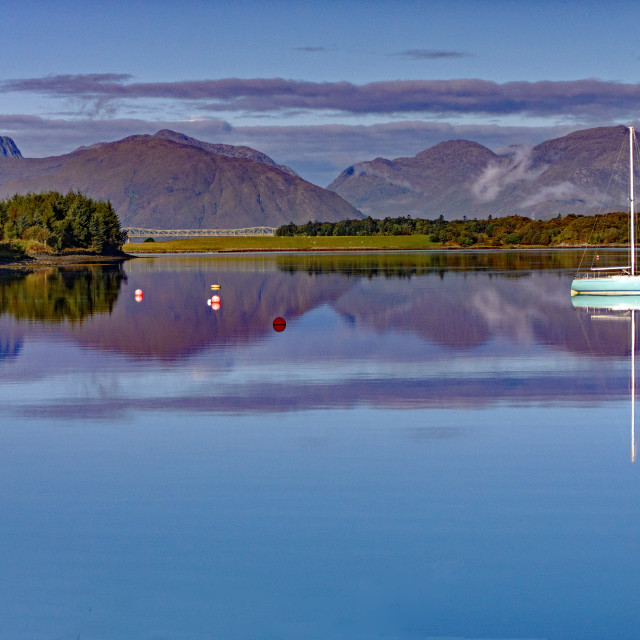 """Loch Leven Morning"" stock image"