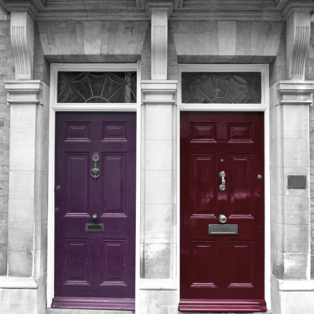 """Antique Doors in London, England"" stock image"