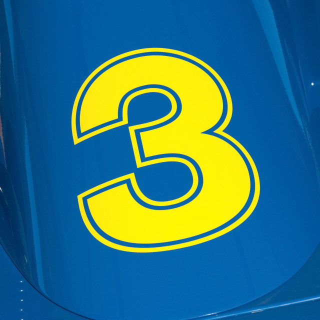 """yellow number 3"" stock image"