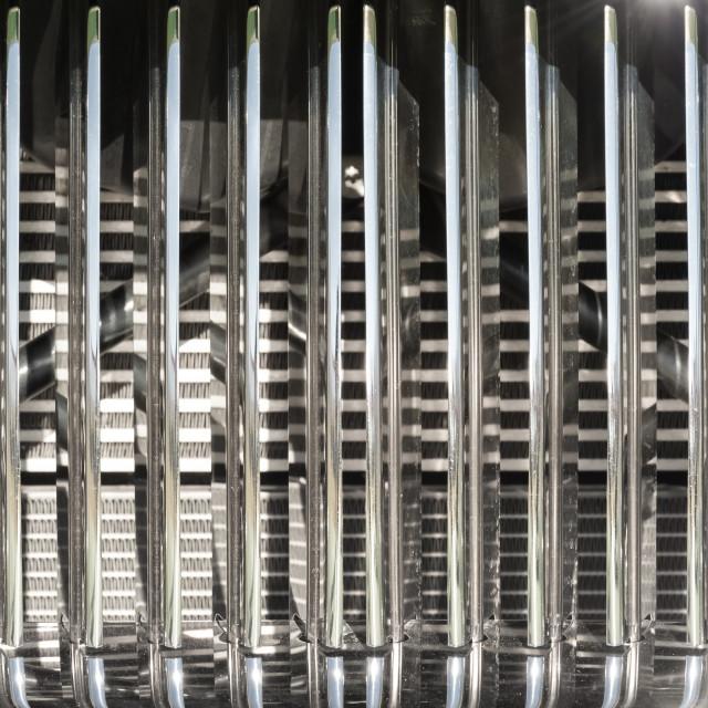"""vintage chromed vehicle grille"" stock image"