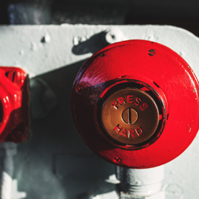 """Industrial red button"" stock image"