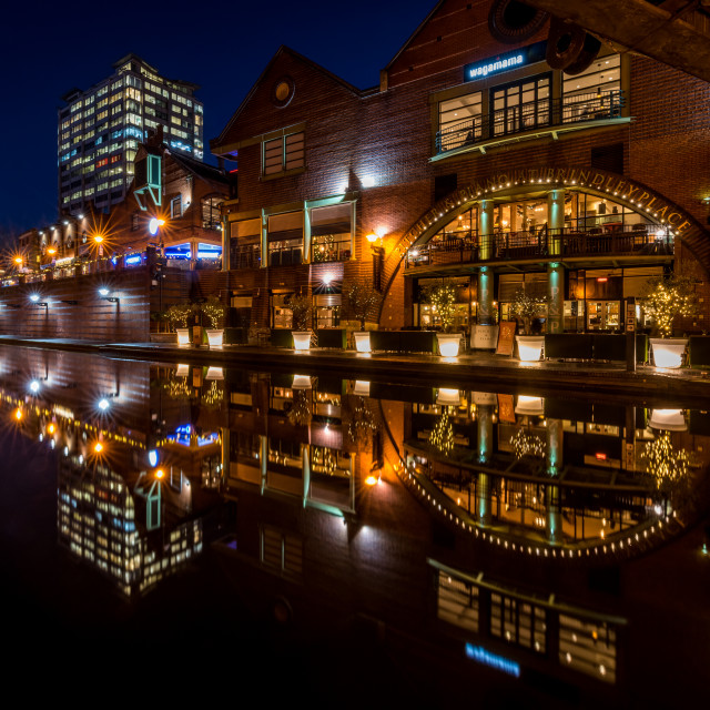"""The beauty of Birmingham by night"" stock image"