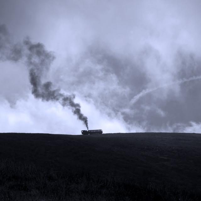 """""""Snowdon Mountain Railway"""" stock image"""