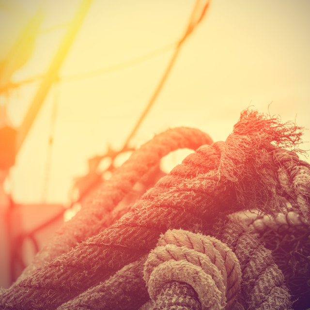 """Rope details."" stock image"
