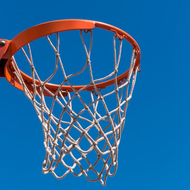 """The hoop basketball"" stock image"