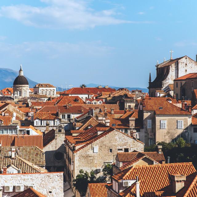 """""""Dubrovnik buildings in Croatia"""" stock image"""