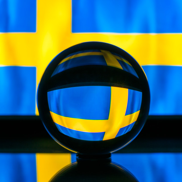 """Swedish flag"" stock image"