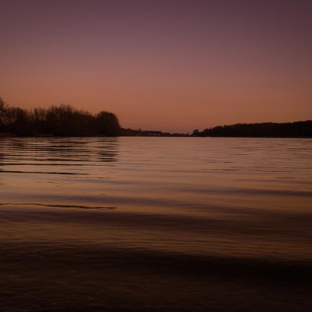 """Calm lake"" stock image"