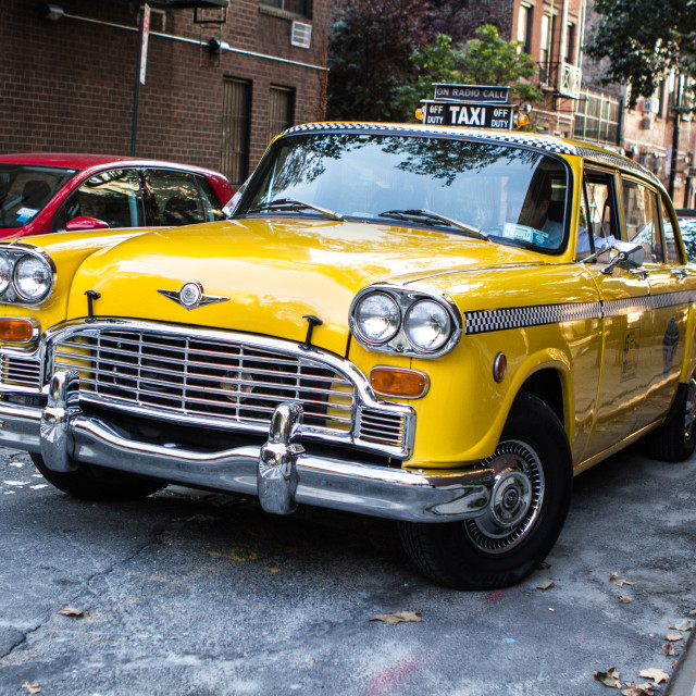 """The Taxi Driver's Cab"" stock image"