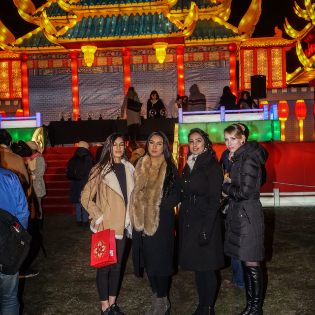 """Magical Lantern Festival' VIP Night, London"" stock image"