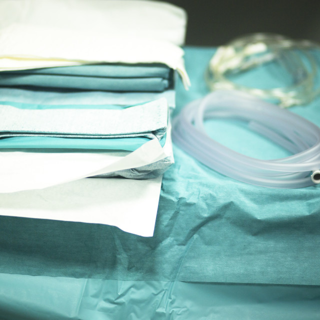 """Surgery instrumentation table"" stock image"