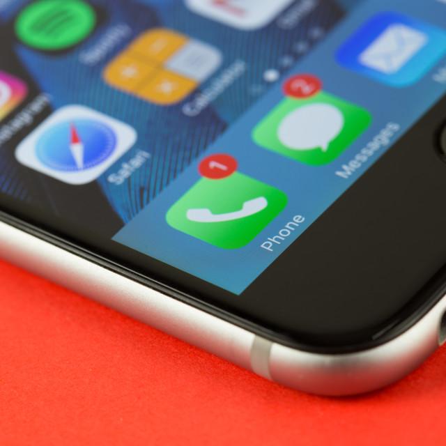 """iPhone notifications"" stock image"