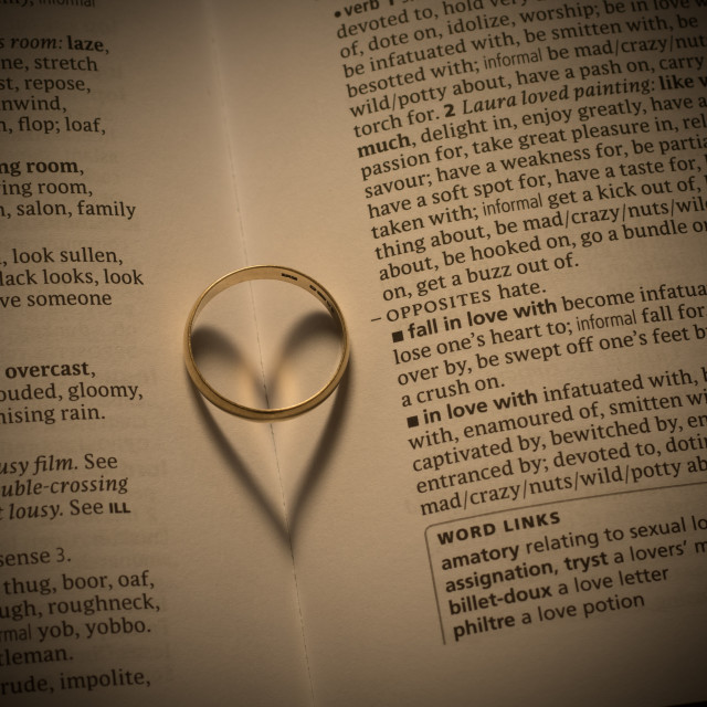 """Wedding ring heart"" stock image"