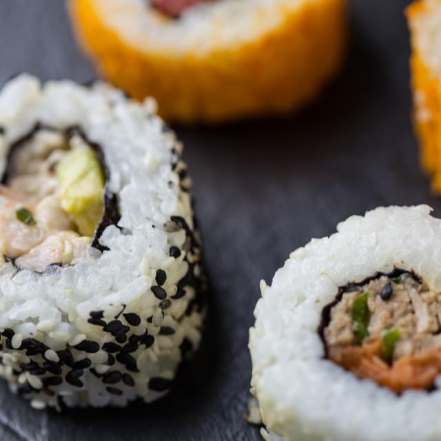 """""""Sushi rolls"""" stock image"""
