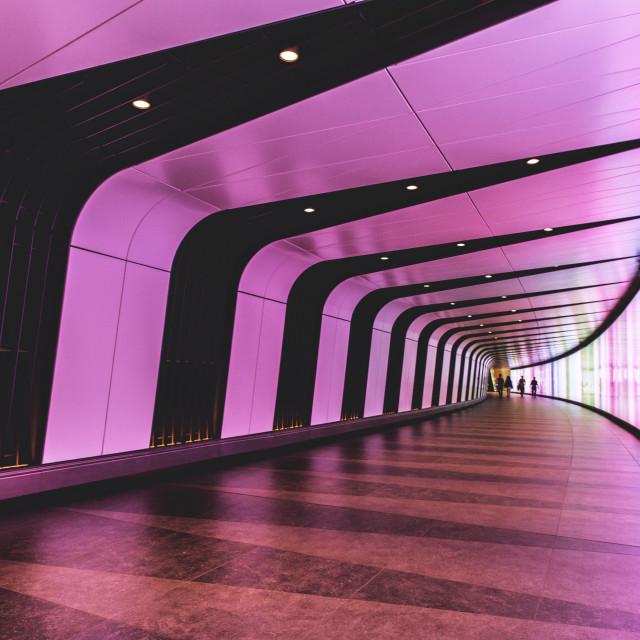 """Modern tunnel in London"" stock image"