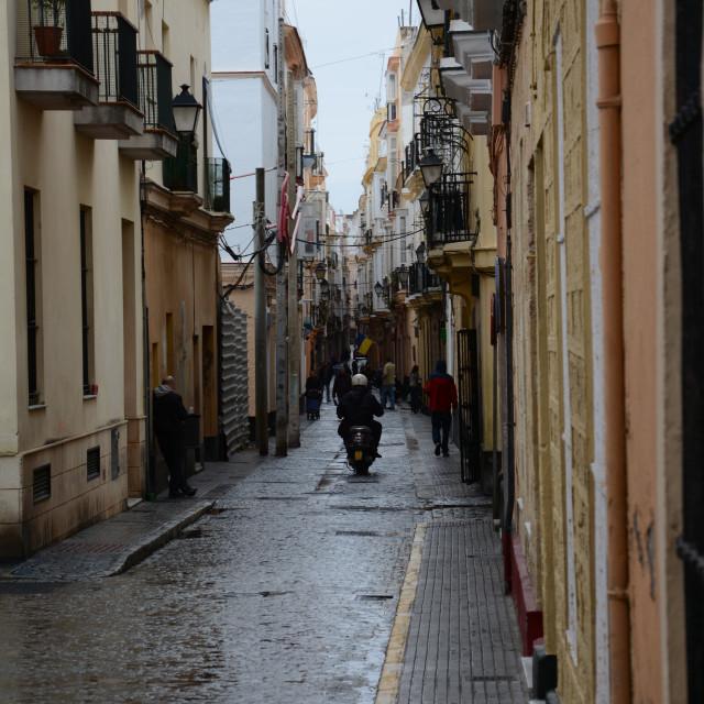 """""""Narrow Streets"""" stock image"""