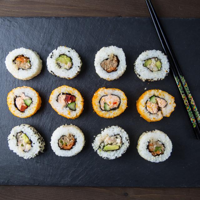 """""""Sushi platter"""" stock image"""