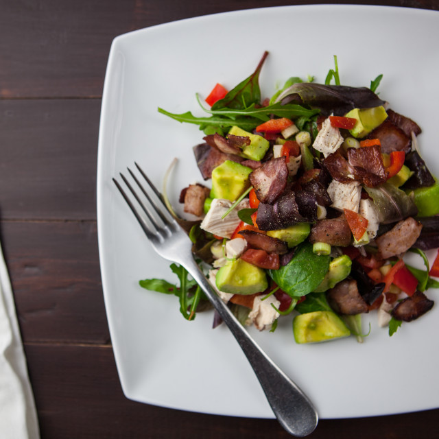 """Bacon Avocado Salad"" stock image"