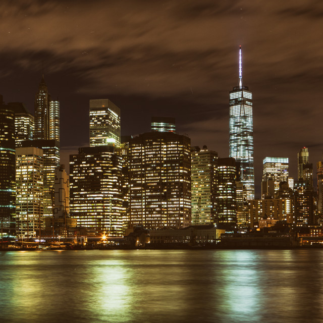 """Manhattan skyline, New York City"" stock image"