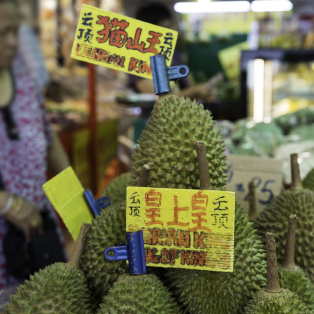 """Durians on sale"" stock image"