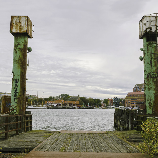 """Old ferry harbour"" stock image"