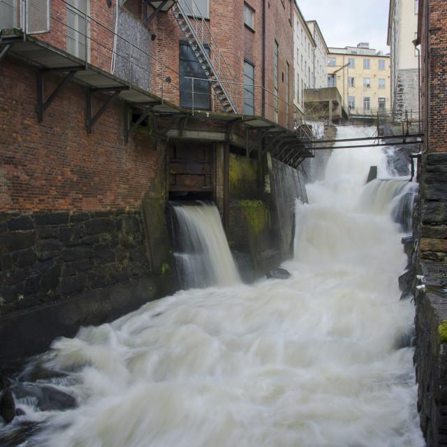 """""""Rushing water free falling down"""" stock image"""