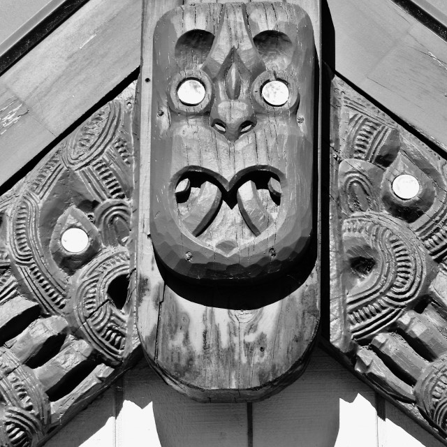 """""""Toi Whakairo (Wood Carving)"""" stock image"""