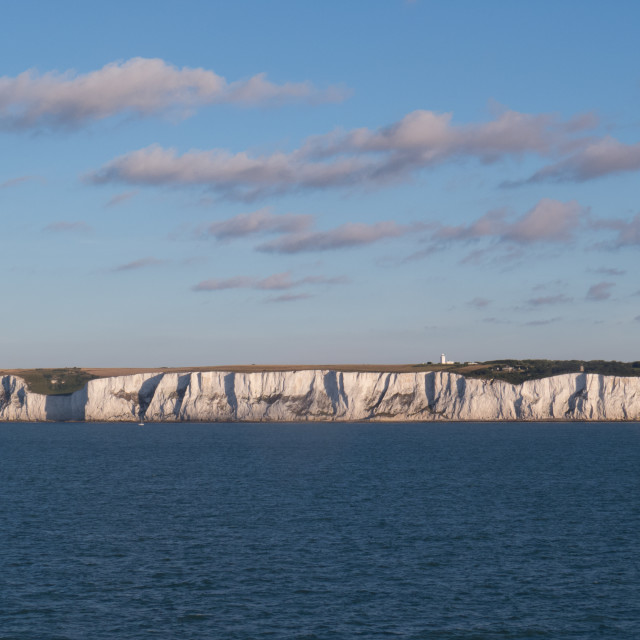 """White cliffs of Dover and the English Chanel"" stock image"