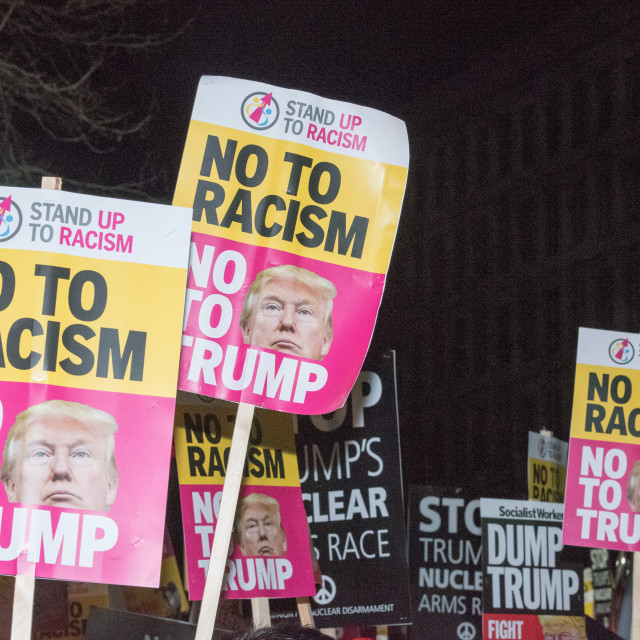 """""""Anti Trump rally and march - London"""" stock image"""