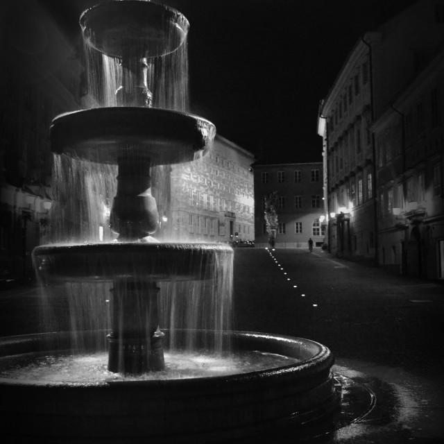 """""""fountain in Ljubljana"""" stock image"""