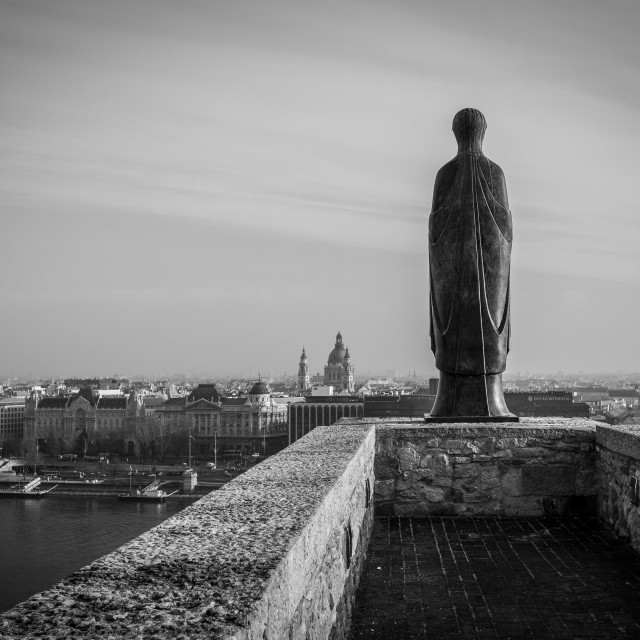 """Overlooking the Danube"" stock image"