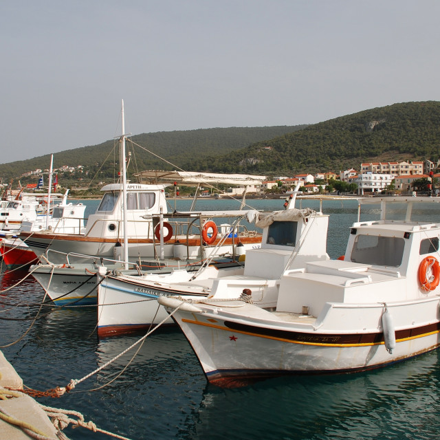 """Agistri boats, Greece"" stock image"