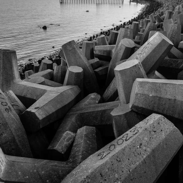 """Coastal Defence"" stock image"